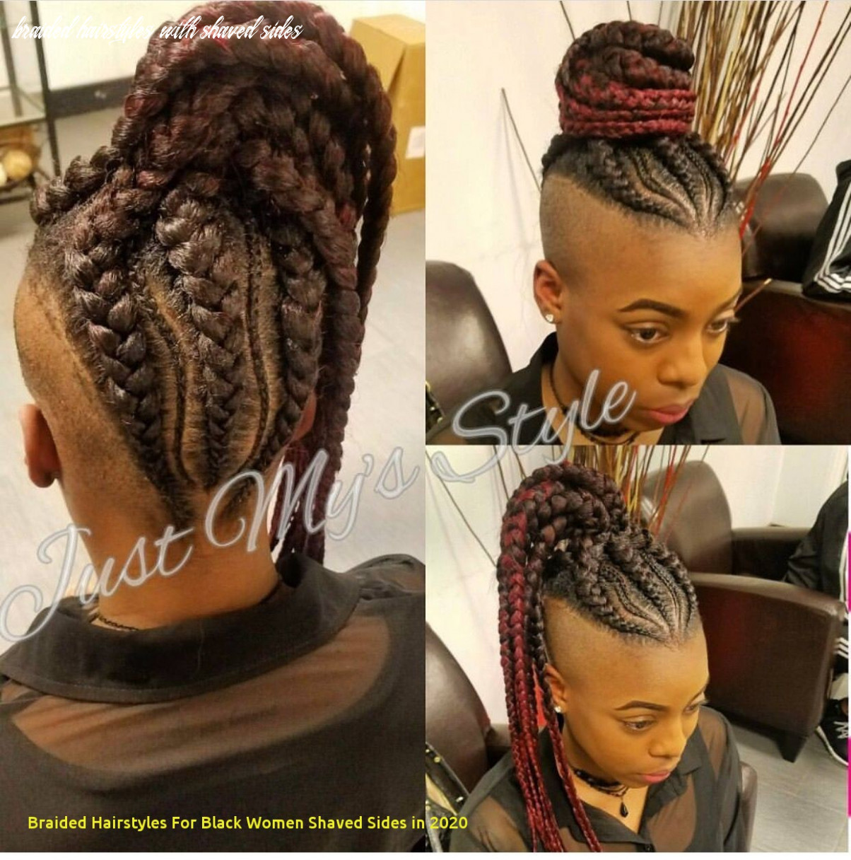 12 awesome braided hairstyles for black women shaved sides in 12