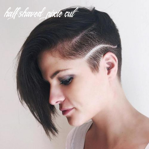 12 bold and daring takes on the shaved pixie cut half shaved pixie cut