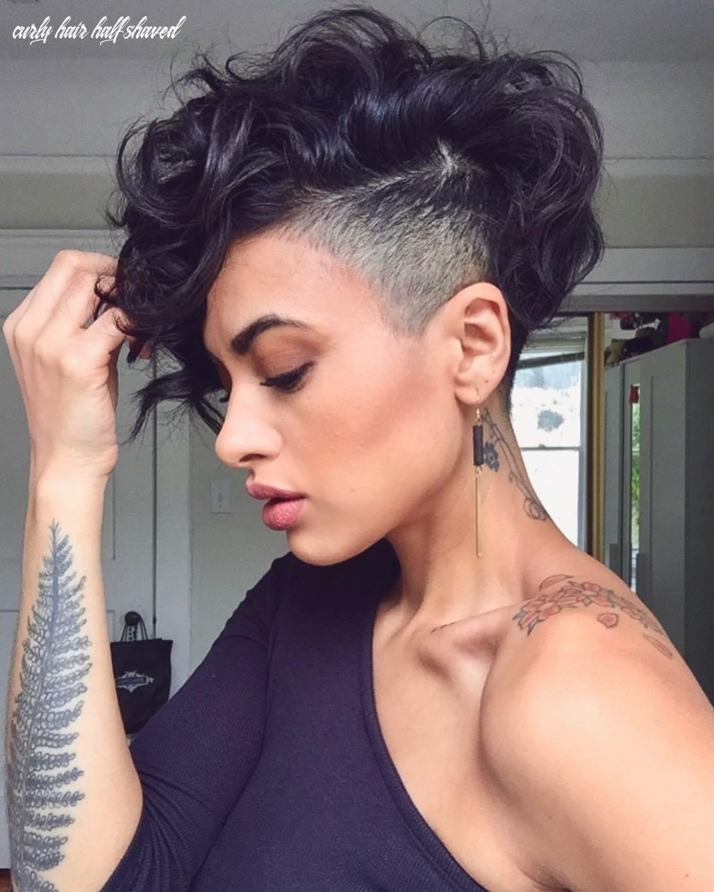 12 bold shaved hairstyles for women | shaved hair designs curly hair half shaved