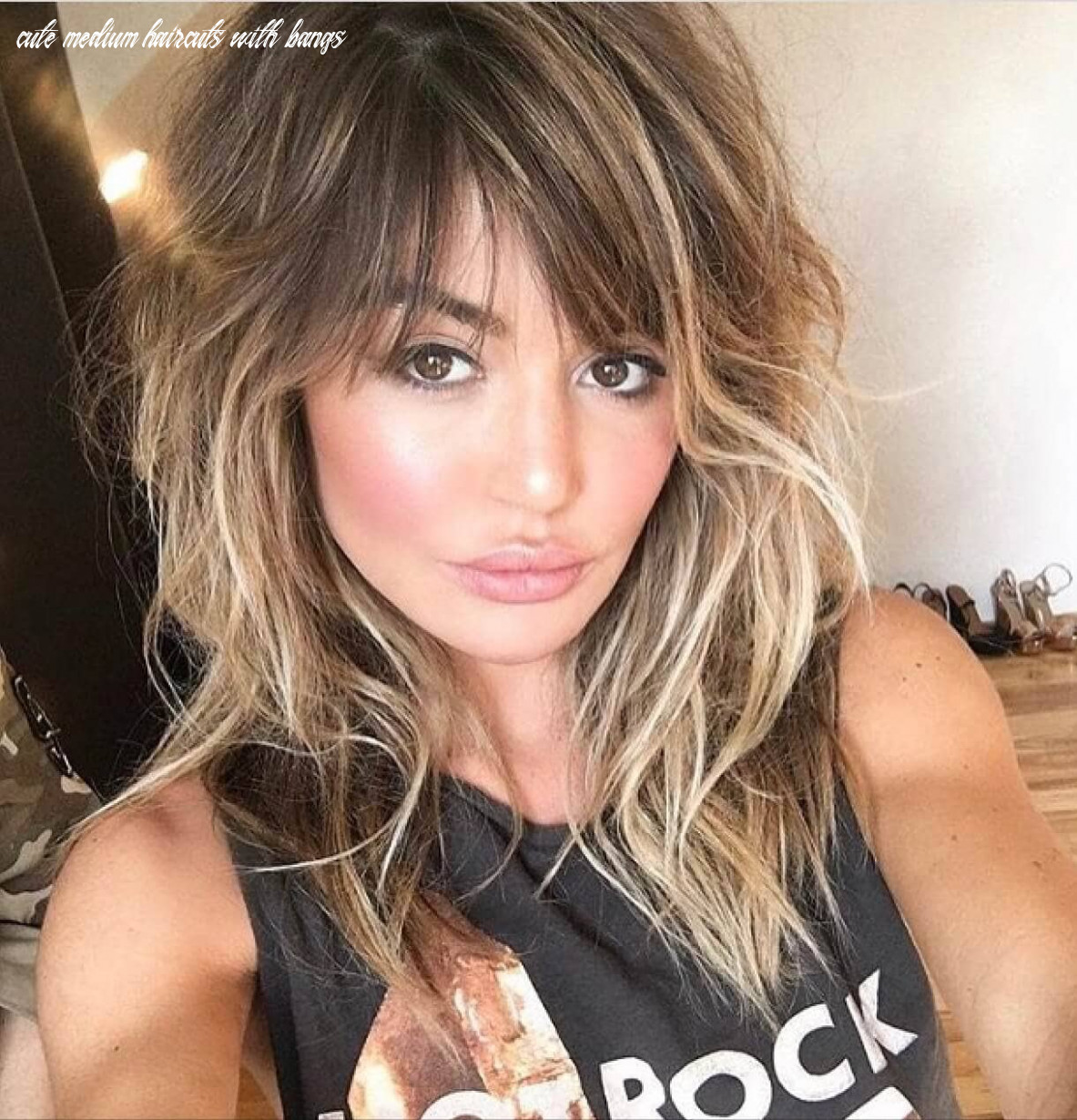 12 breezy hairstyles with bangs to make you shine in 12 cute medium haircuts with bangs