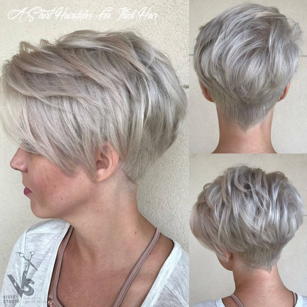 12+ Classy Short Haircuts & Hairstyles for Thick Hair - Sensod