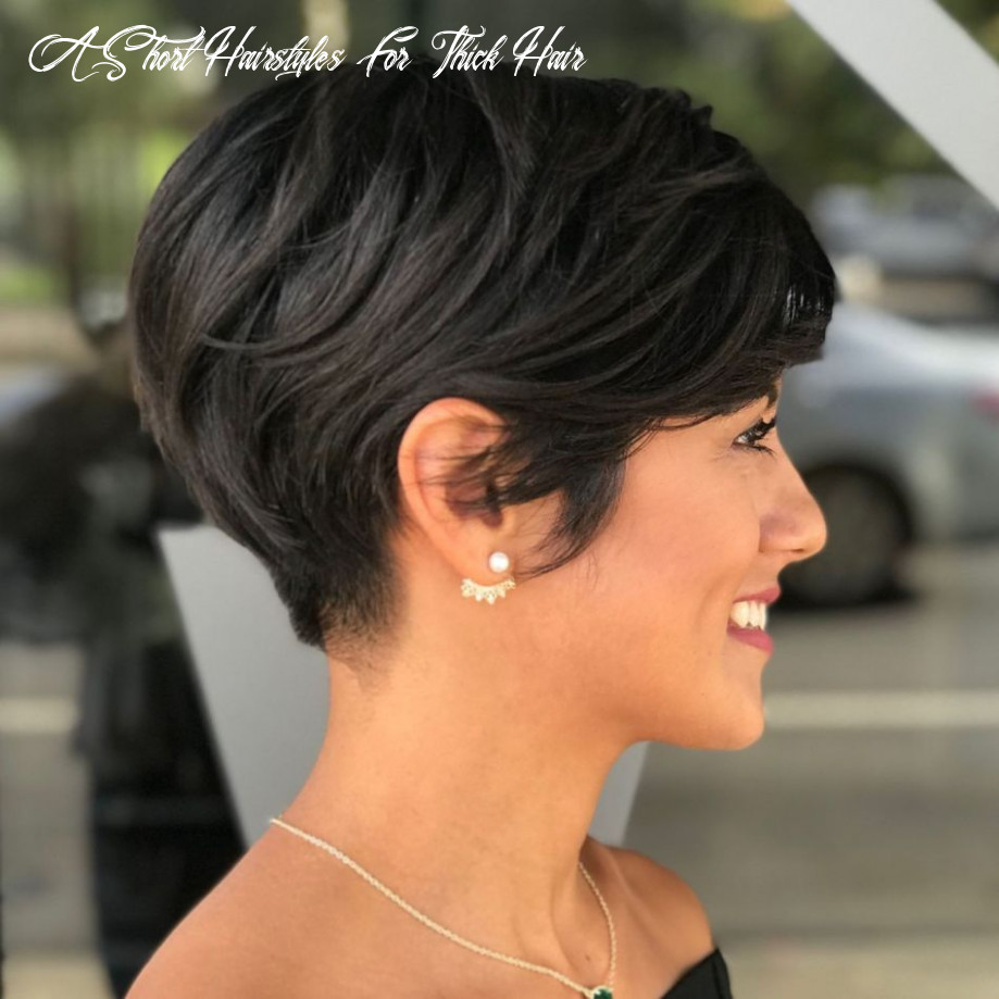 12 classy short haircuts and hairstyles for thick hair | thick