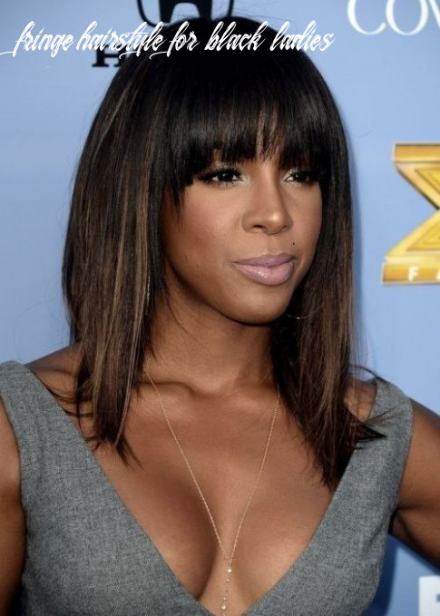 12 coolest black hairstyles with bangs | halflang stijle kapsels