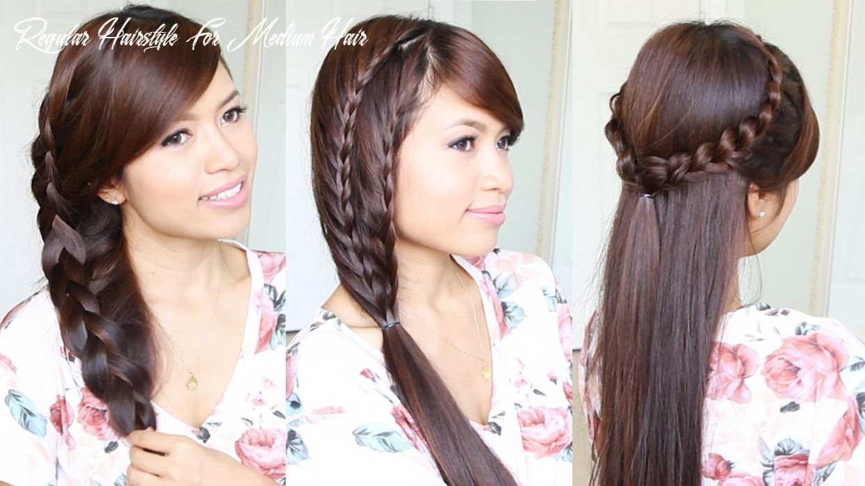12 cute & easy summer hairstyles for medium to long hair regular hairstyle for medium hair