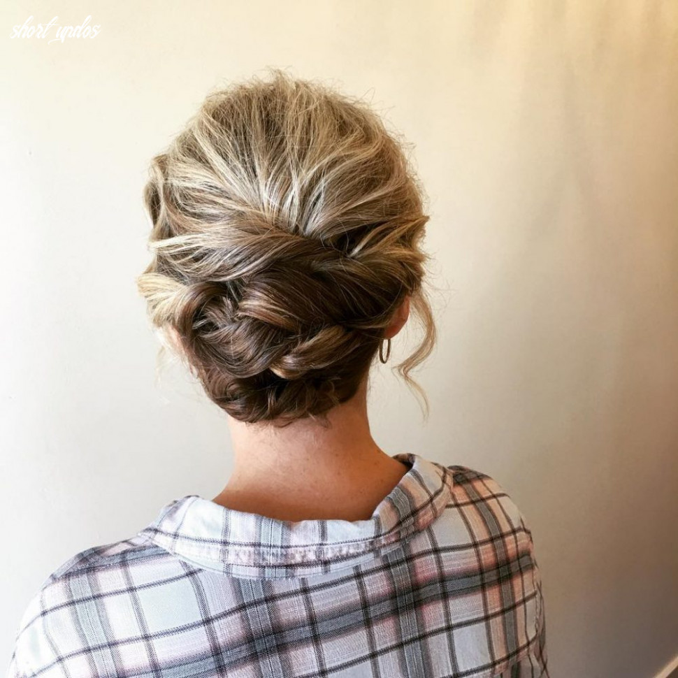 12 cute & easy updos for short hair short updos