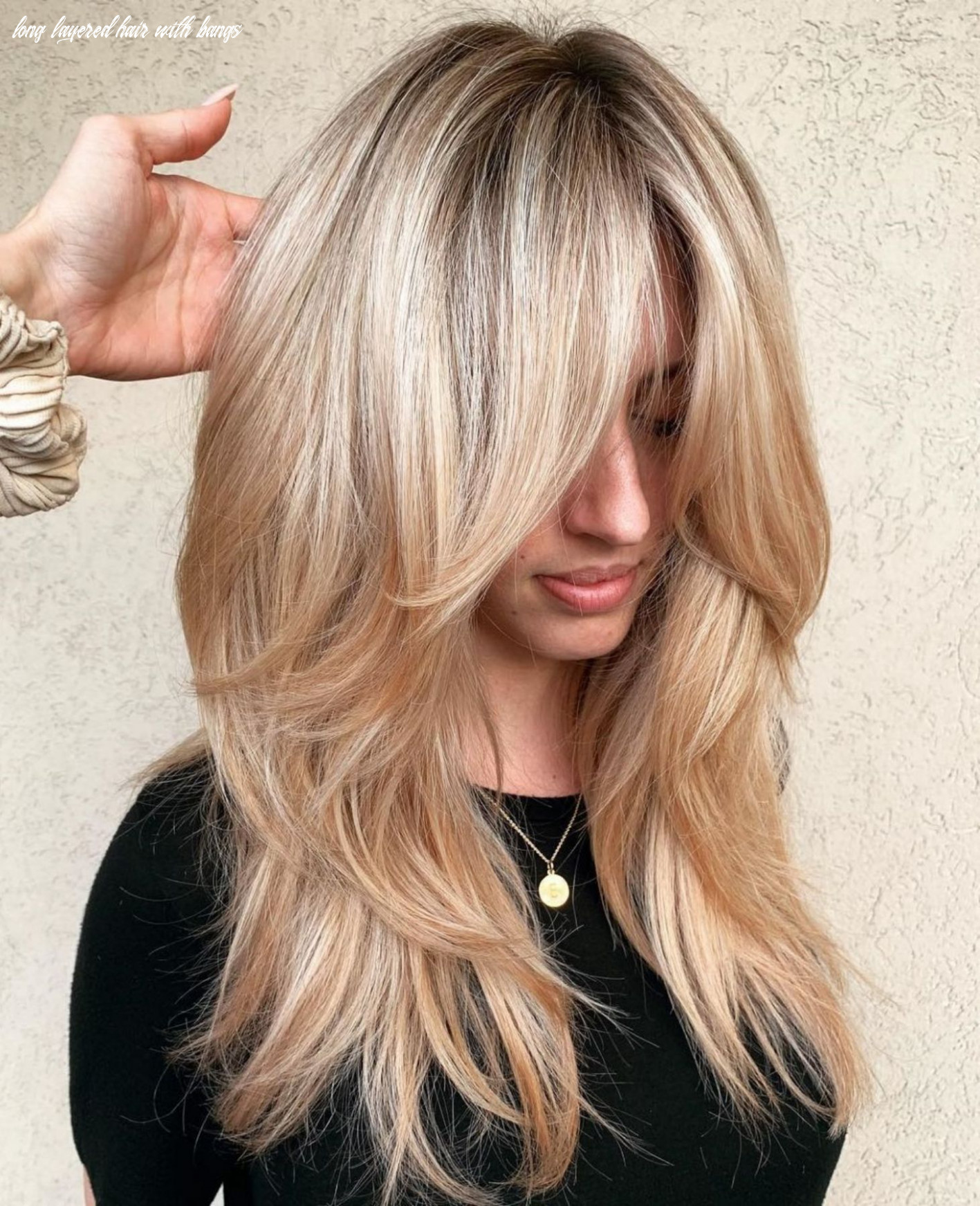 12 cute and effortless long layered haircuts with bangs | layered