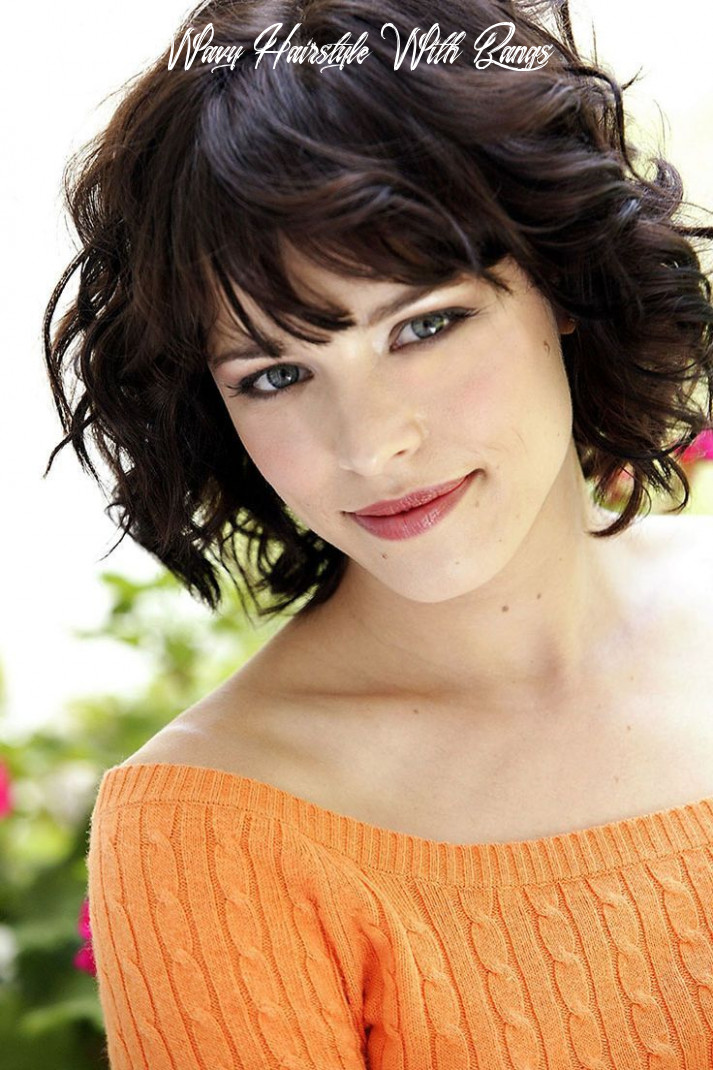 12 Cute Styles Featuring Curly Hair with Bangs   Short hair styles ...