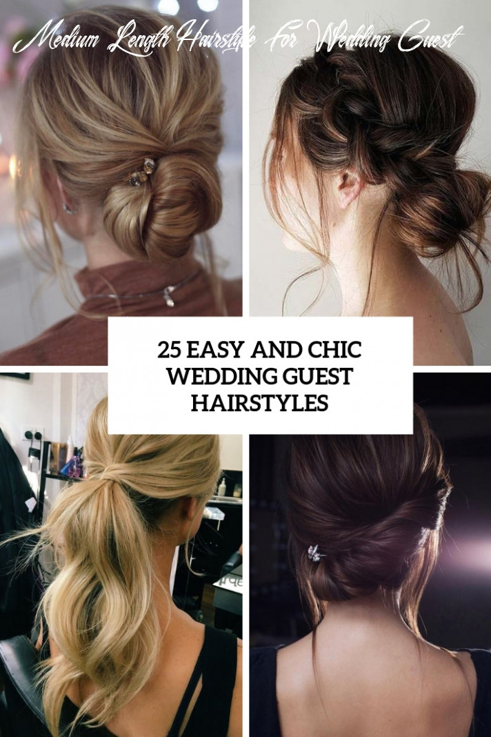 12 easy and chic wedding guest hairstyles weddingomania medium length hairstyle for wedding guest