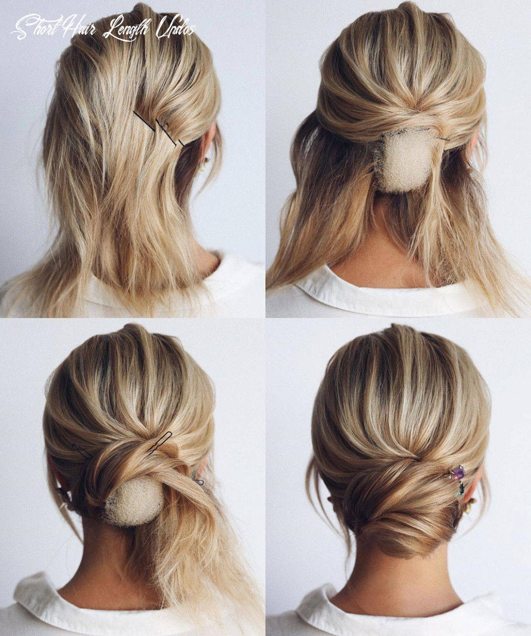 12 easy and cute hair tutorials for any occasion   short wedding