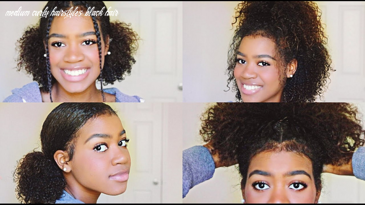 12 easy and cute hairstyles for medium length curly hair! medium curly hairstyles black hair