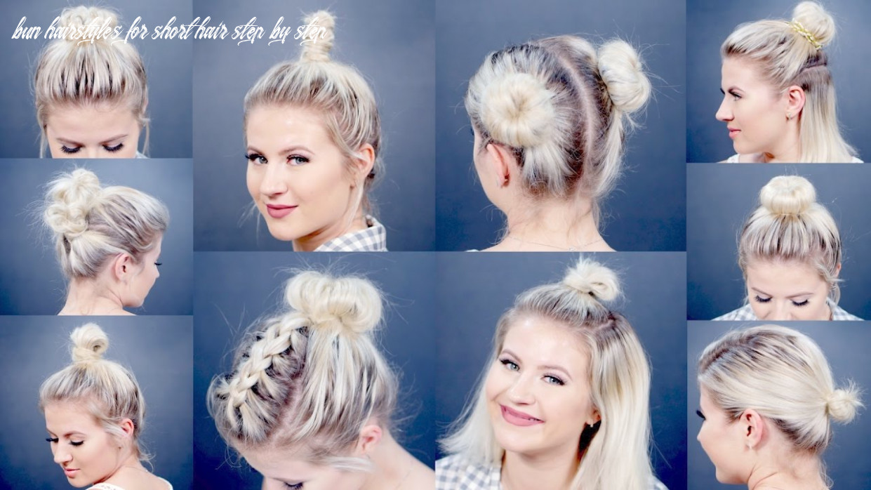 12 easy different bun hairstyles for short hair | milabu bun hairstyles for short hair step by step