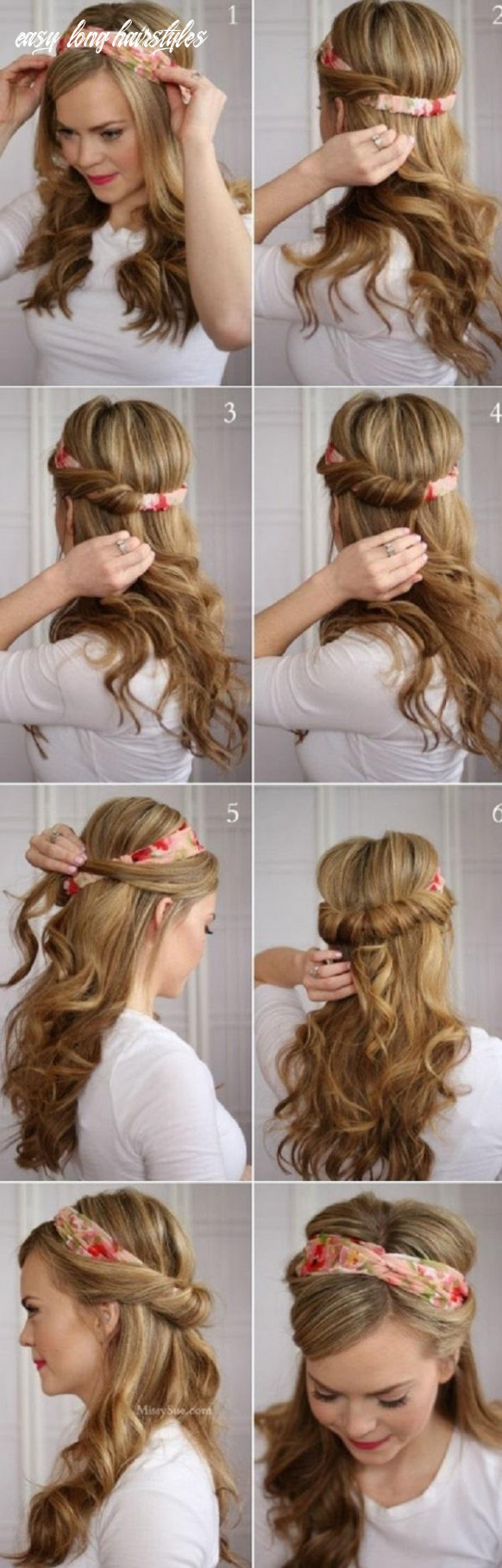 12 easy hairstyles for long hair   cuded easy long hairstyles