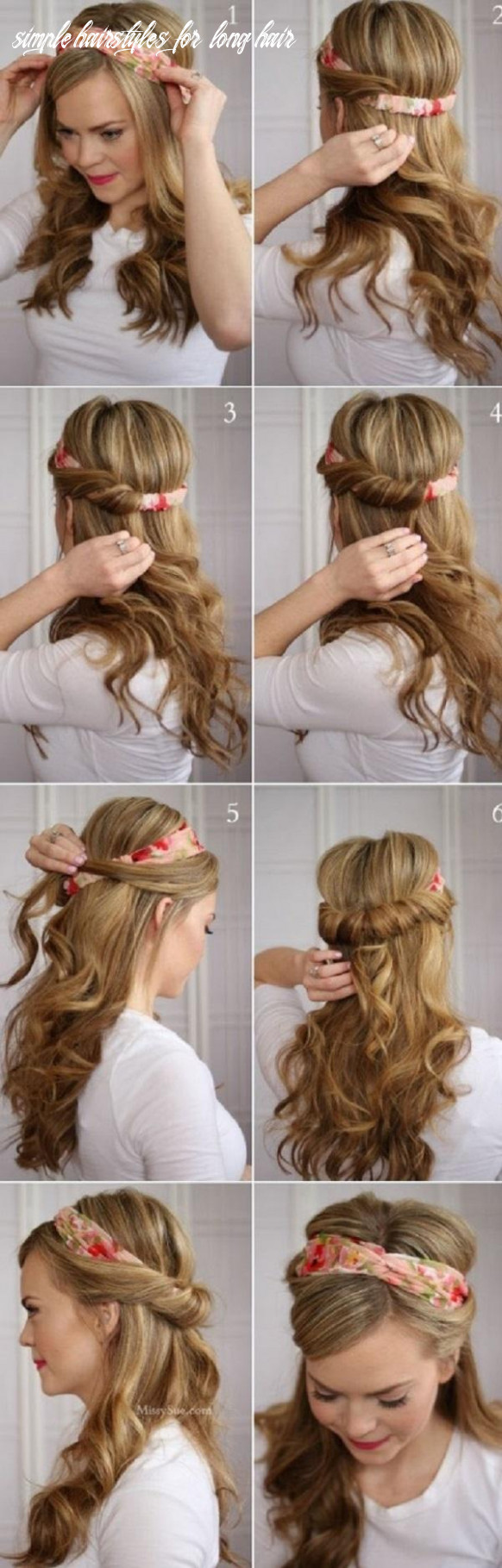 12 easy hairstyles for long hair   cuded simple hairstyles for long hair