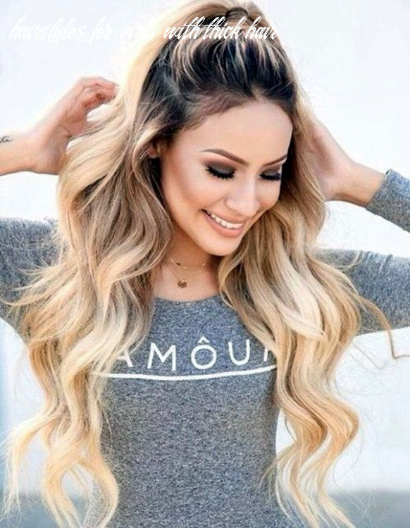 12 easy hairstyles for long thick hair | long hair styles, thick