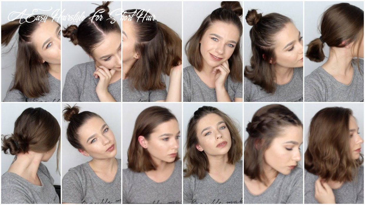 12 easy hairstyles for short hair ♡ a easy hairstyle for short hair