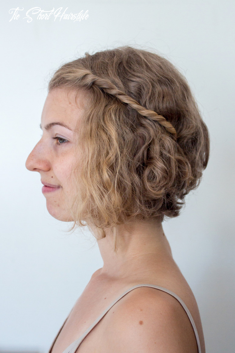 12 easy hairstyles for short hair tie short hairstyle