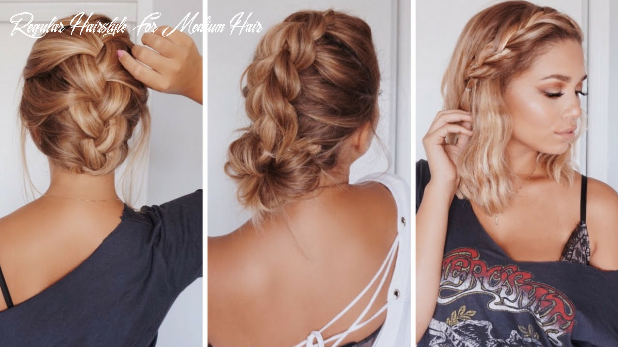 12 easy hairstyles for short/medium length hair | ashley bloomfield regular hairstyle for medium hair