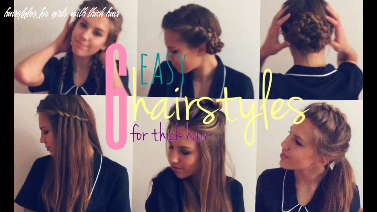 12 easy hairstyles for thick hair hairstyles for girls with thick hair