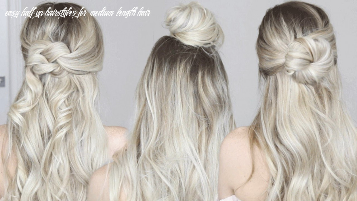 12 easy half up hairstyles | alex gaboury easy half up hairstyles for medium length hair