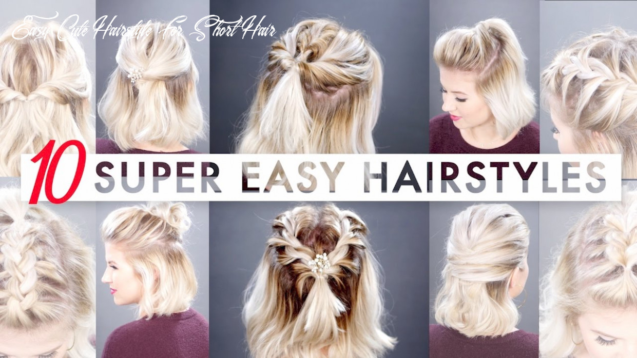 12 easy half up hairstyles for short hair tutorial | milabu easy cute hairstyle for short hair