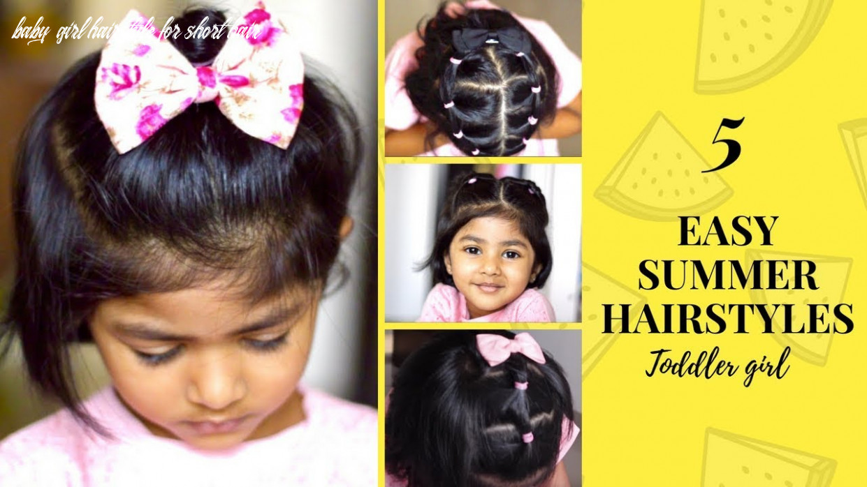 12 easy indian summer hairstyles for short hair | toddler hairstyles | cute & quick baby girl hairstyle for short hair