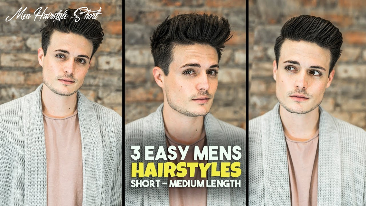 12 easy mens hairstyles | short medium length hair tutorial | blumaan 12 men hairstyle short