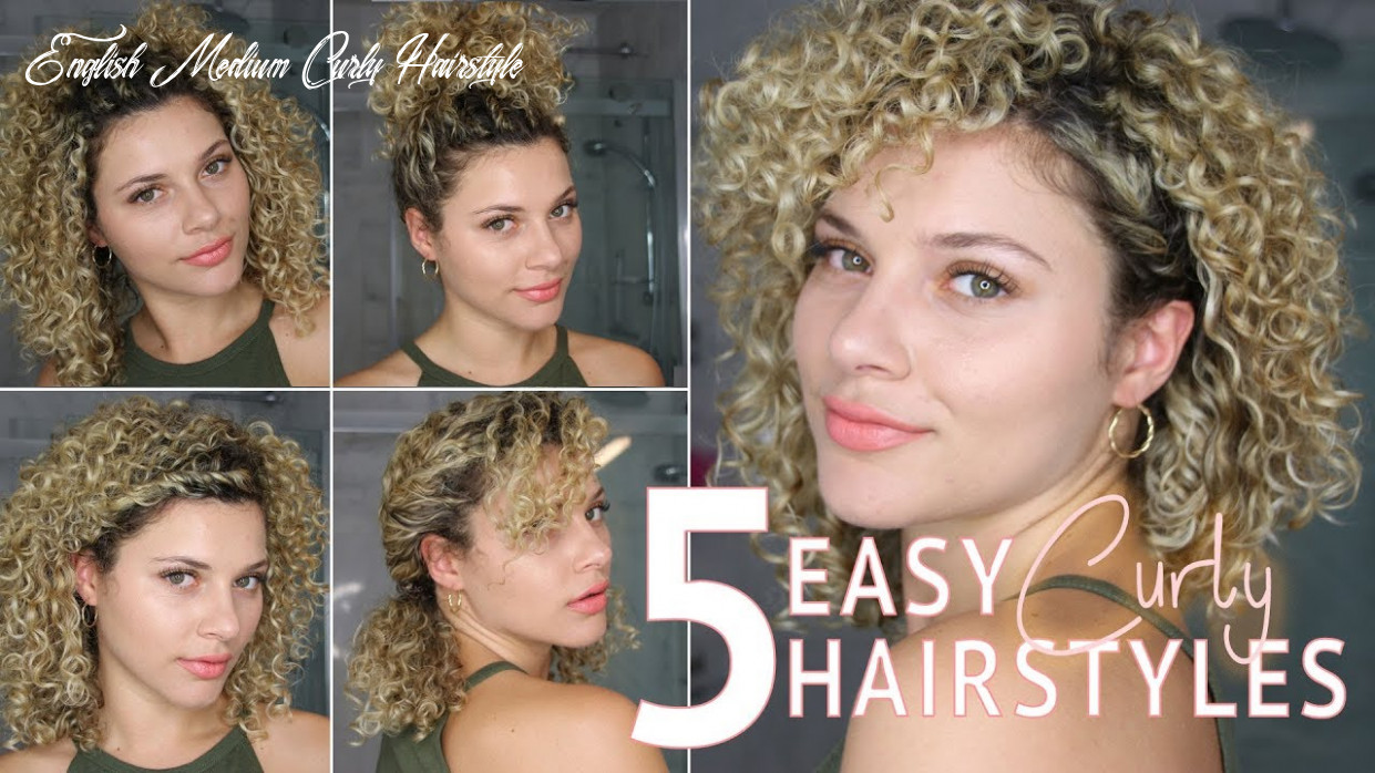 12 easy short curly hairstyles using twists to wear to work or school english medium curly hairstyle