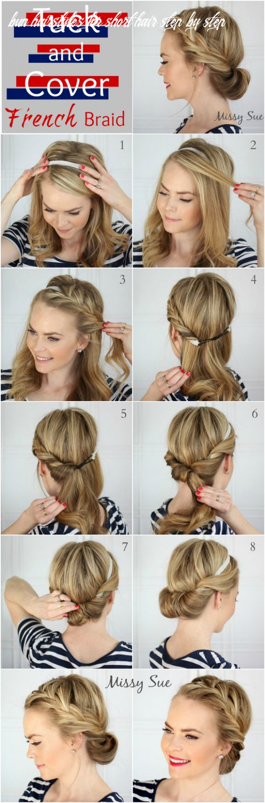 12 easy step by step hair tutorials for long, medium,short hair