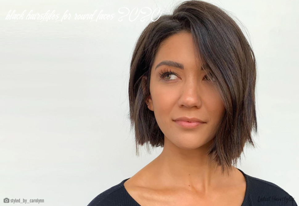 12 flattering short haircuts for oval faces in 12 black hairstyles for round faces 2020