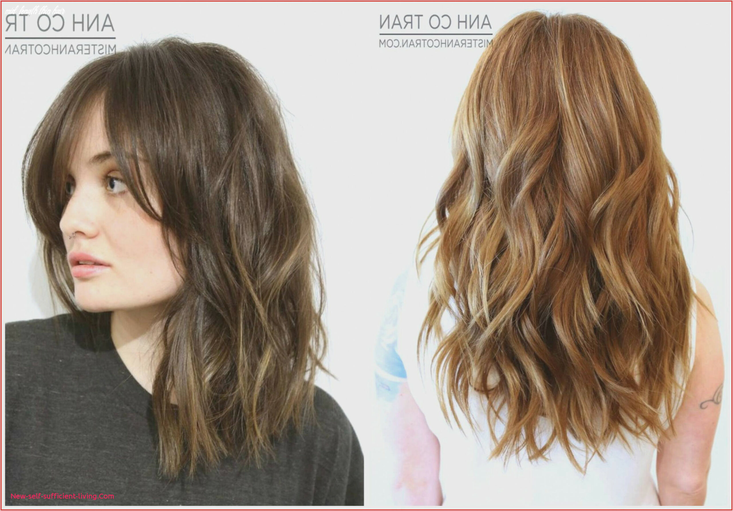 12 fresh medium cut hairstyles for thin hair mid length thin hair