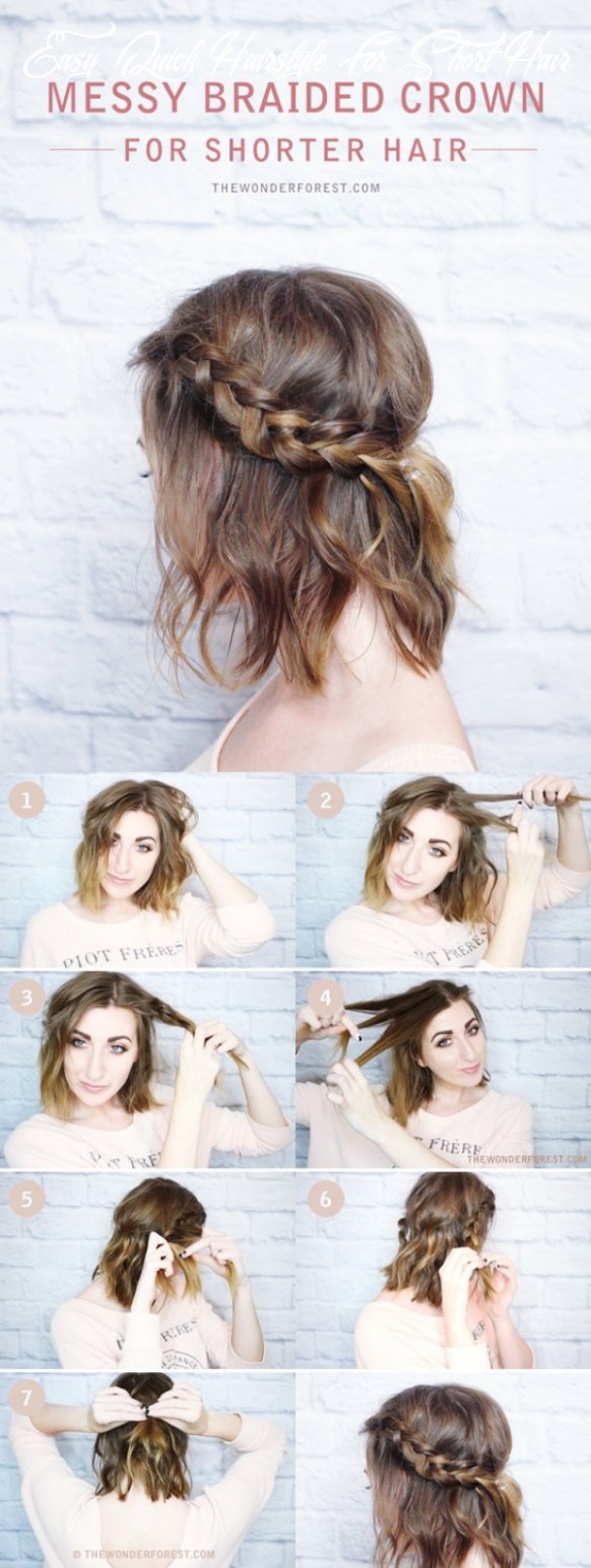 12 hair style girl simple and easy for short hair easy quick hairstyle for short hair