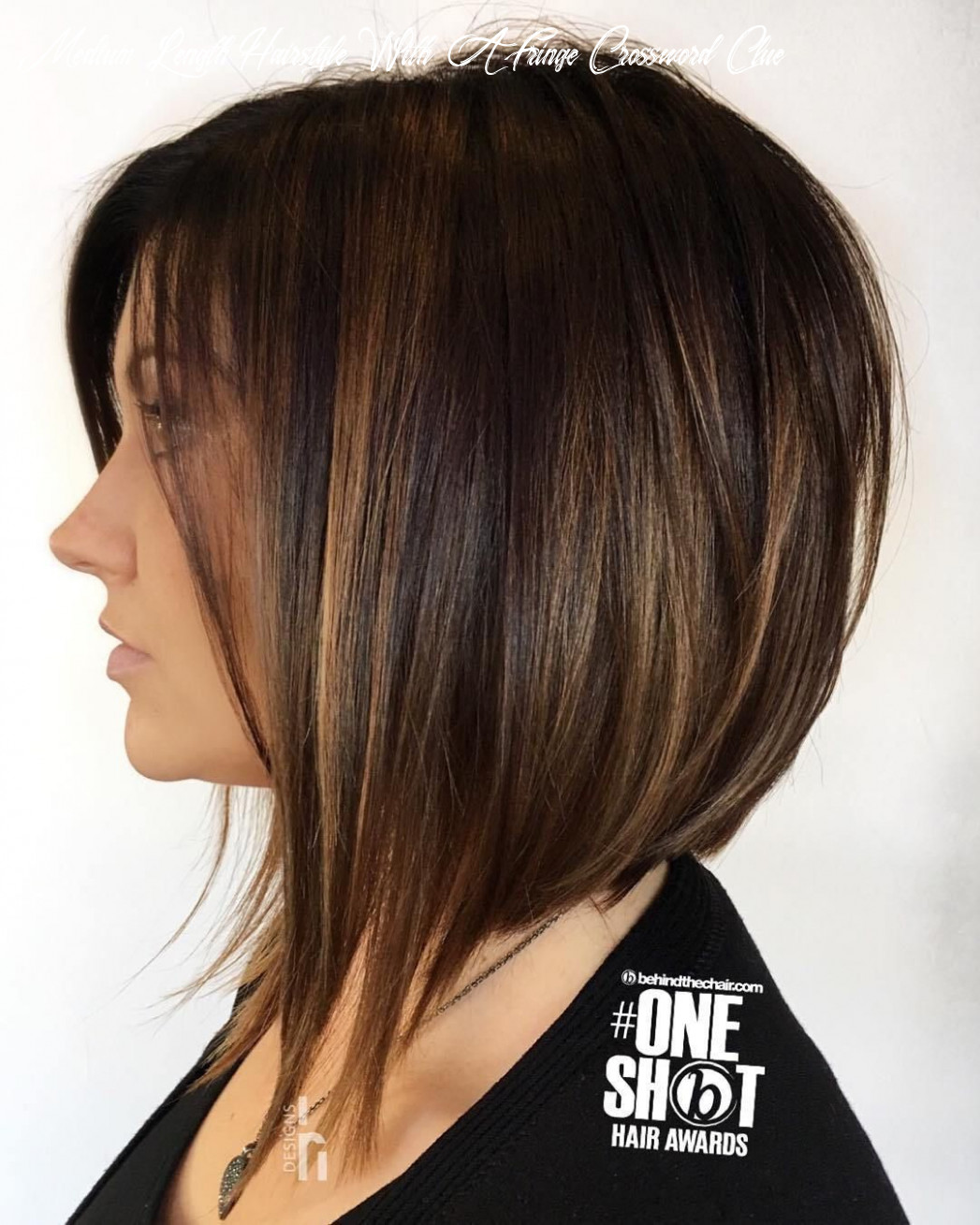 12 hairstyles featuring dark brown hair with highlights   bob