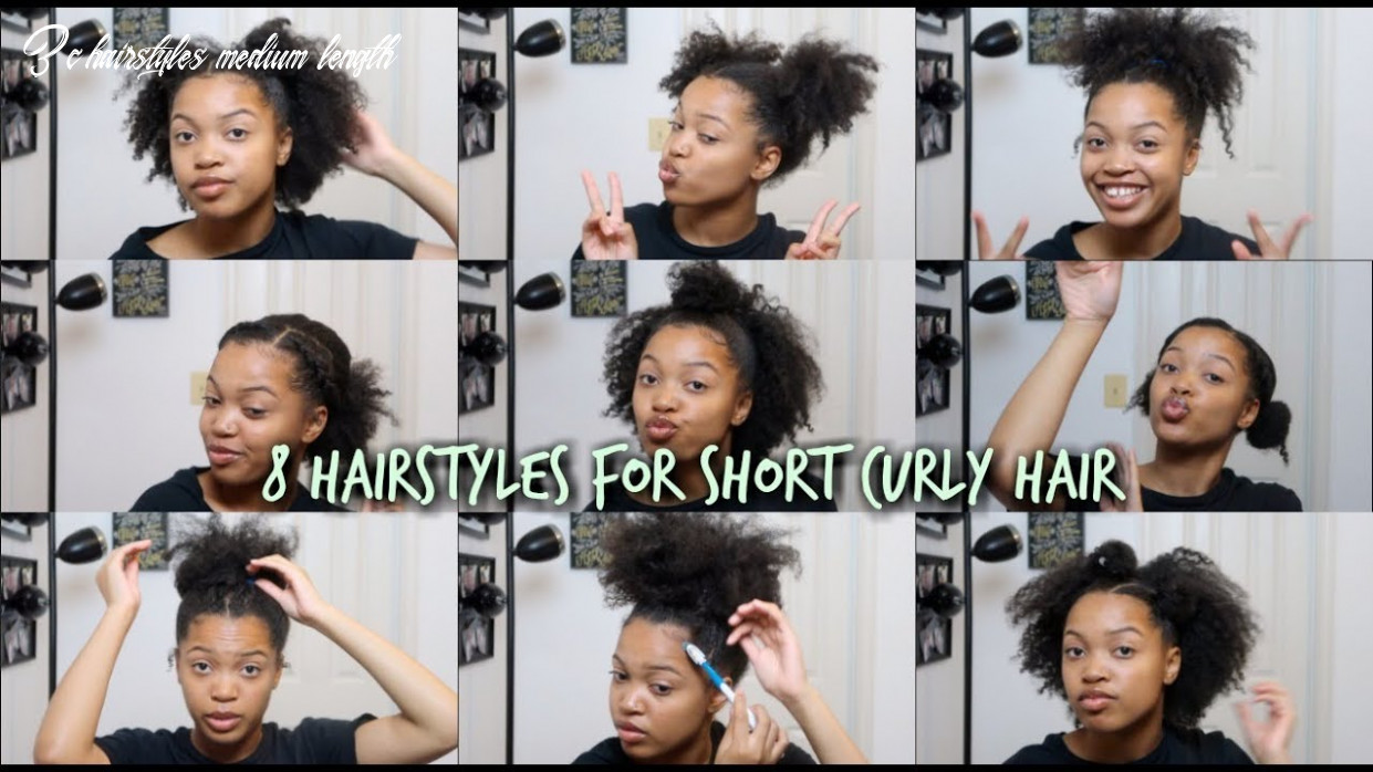 12 hairstyles for natural hair | 12c/12a 3c hairstyles medium length