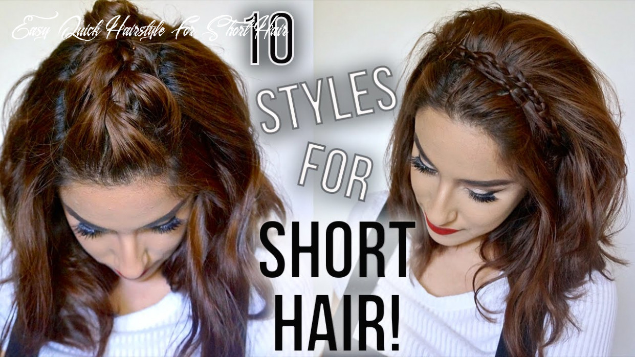 12 hairstyles for short hair // quick & easy // how i style my short hair || claribella easy quick hairstyle for short hair