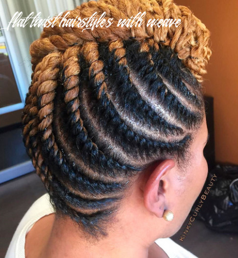 12 hottest flat twist hairstyles for this year flat twist hairstyles with weave