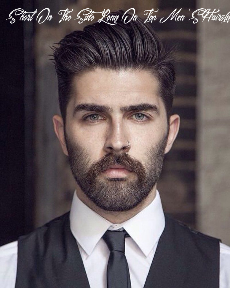 12 hottest short sides long top haircuts | classic mens hairstyles