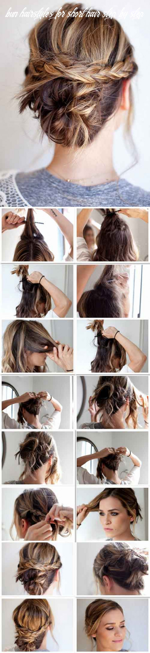 12 incredible diy short hairstyles a step by step guide bun hairstyles for short hair step by step