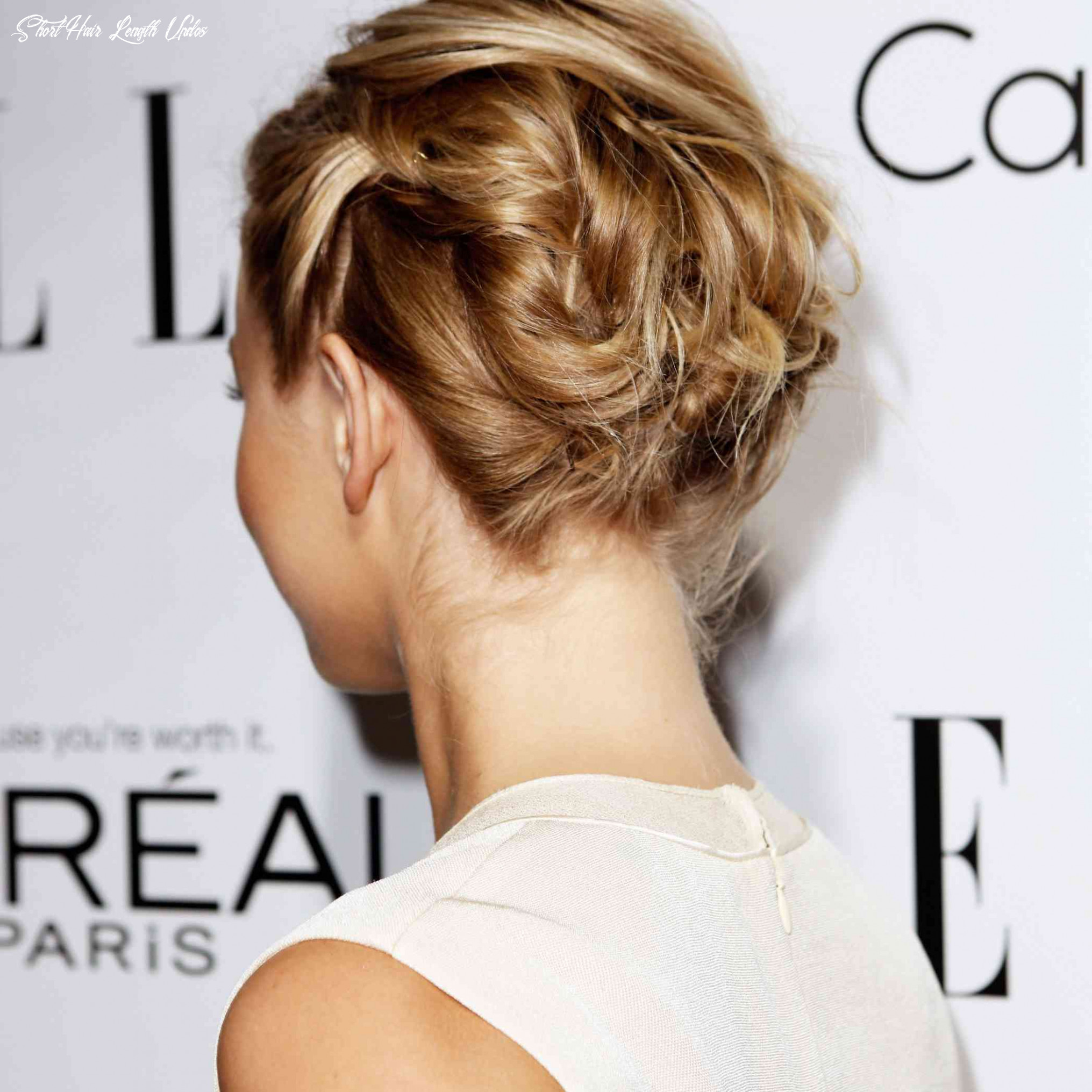 12 incredibly chic updo ideas for short hair short hair length updos