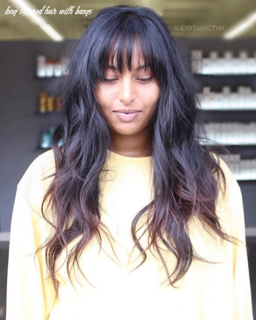 12 long shag haircuts trending right now long layered hair with bangs
