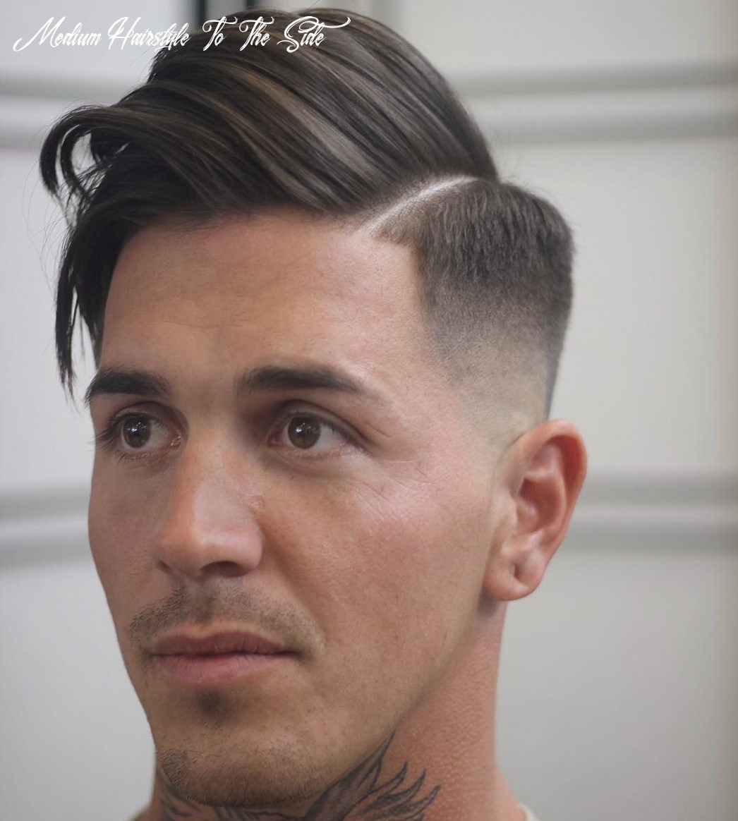 12 medium hairstyles for men (cool 12 styles) medium hairstyle to the side