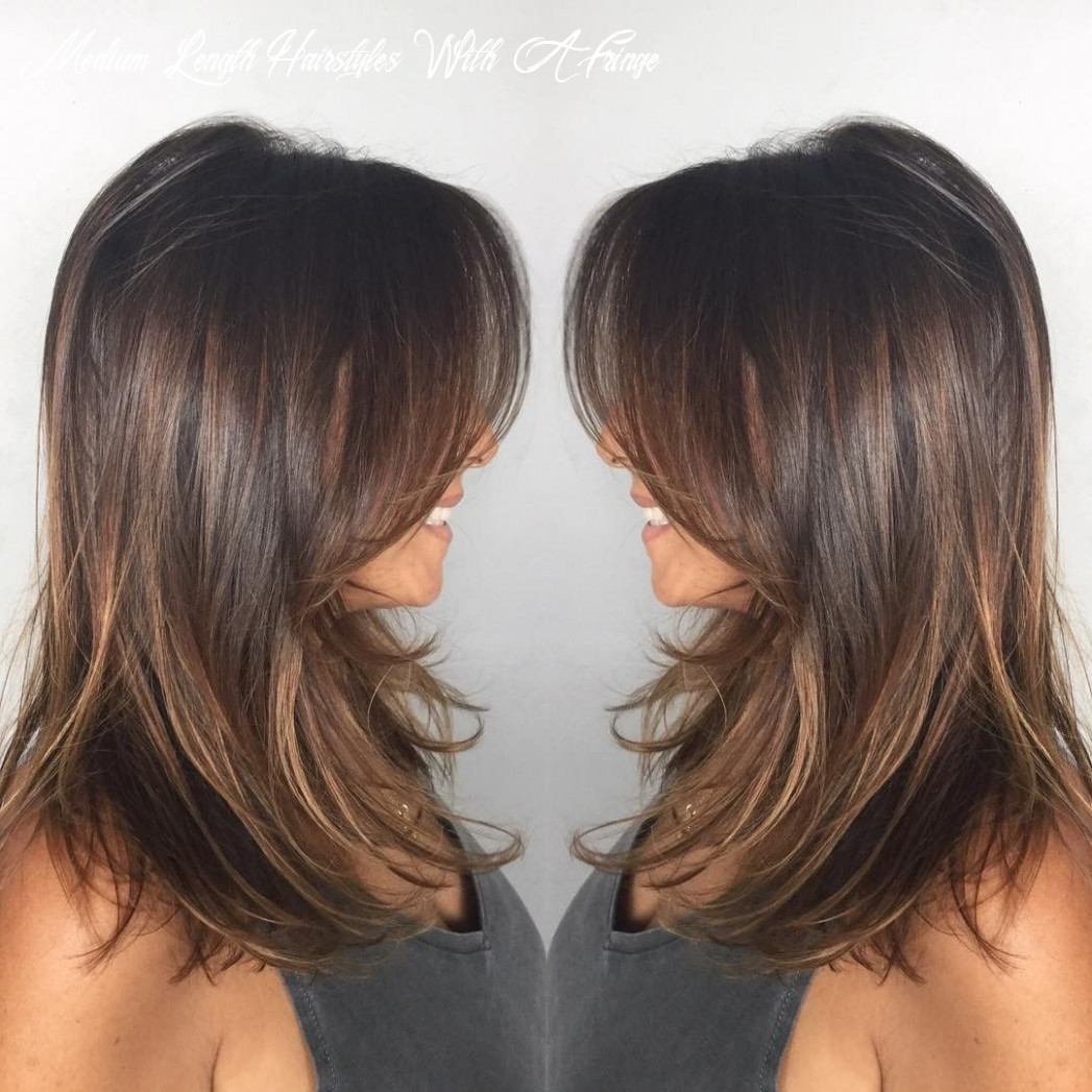 12 medium length haircuts with bangs – eazy glam medium length hairstyles with a fringe
