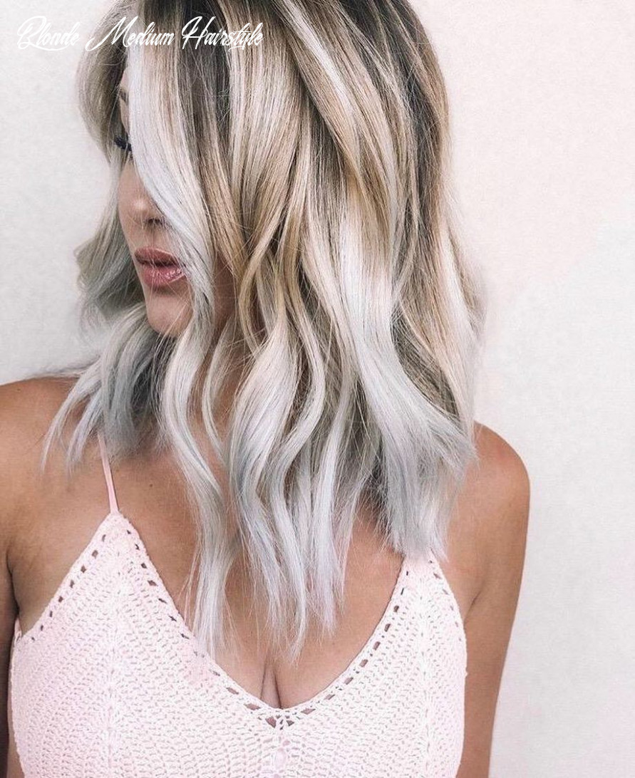 12 medium to long hairstyles in exciting blonde colors women