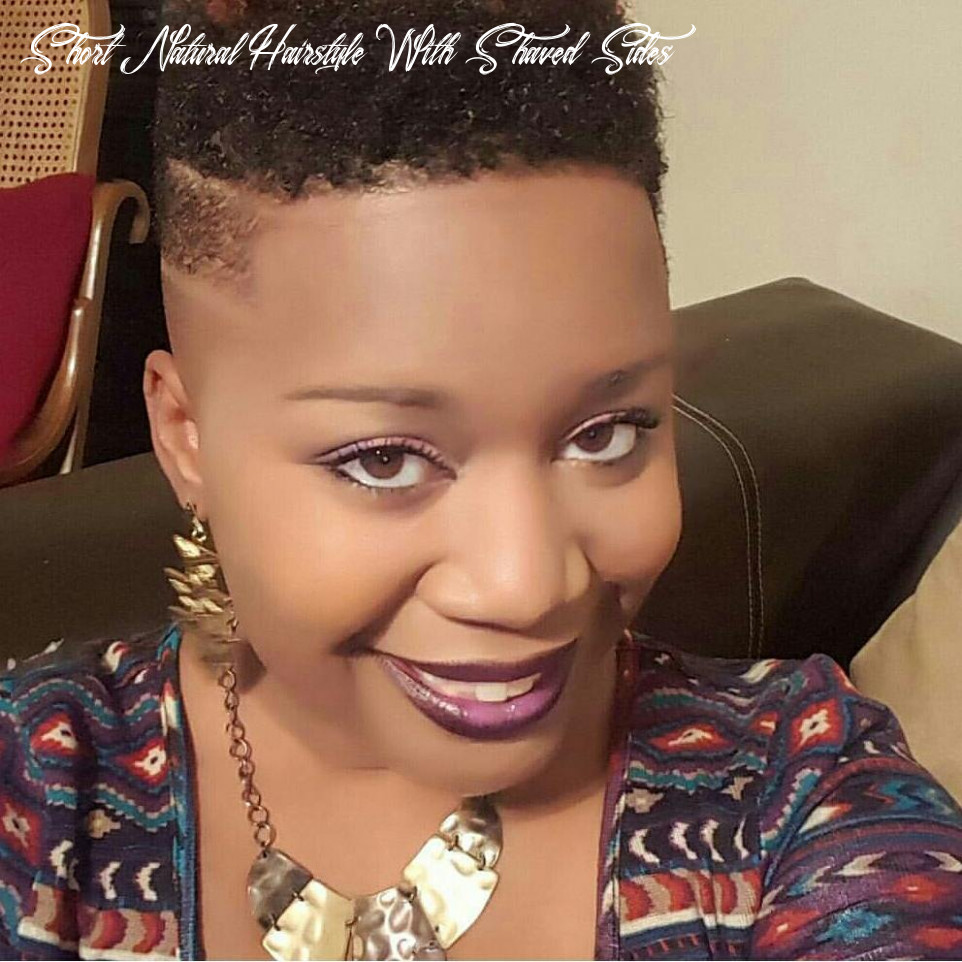 12 of the best photos of shaved sides on short natural hair short natural hairstyle with shaved sides