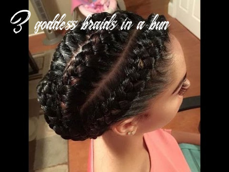 12 of the most stunning styles of the goddess braid 3 goddess braids in a bun