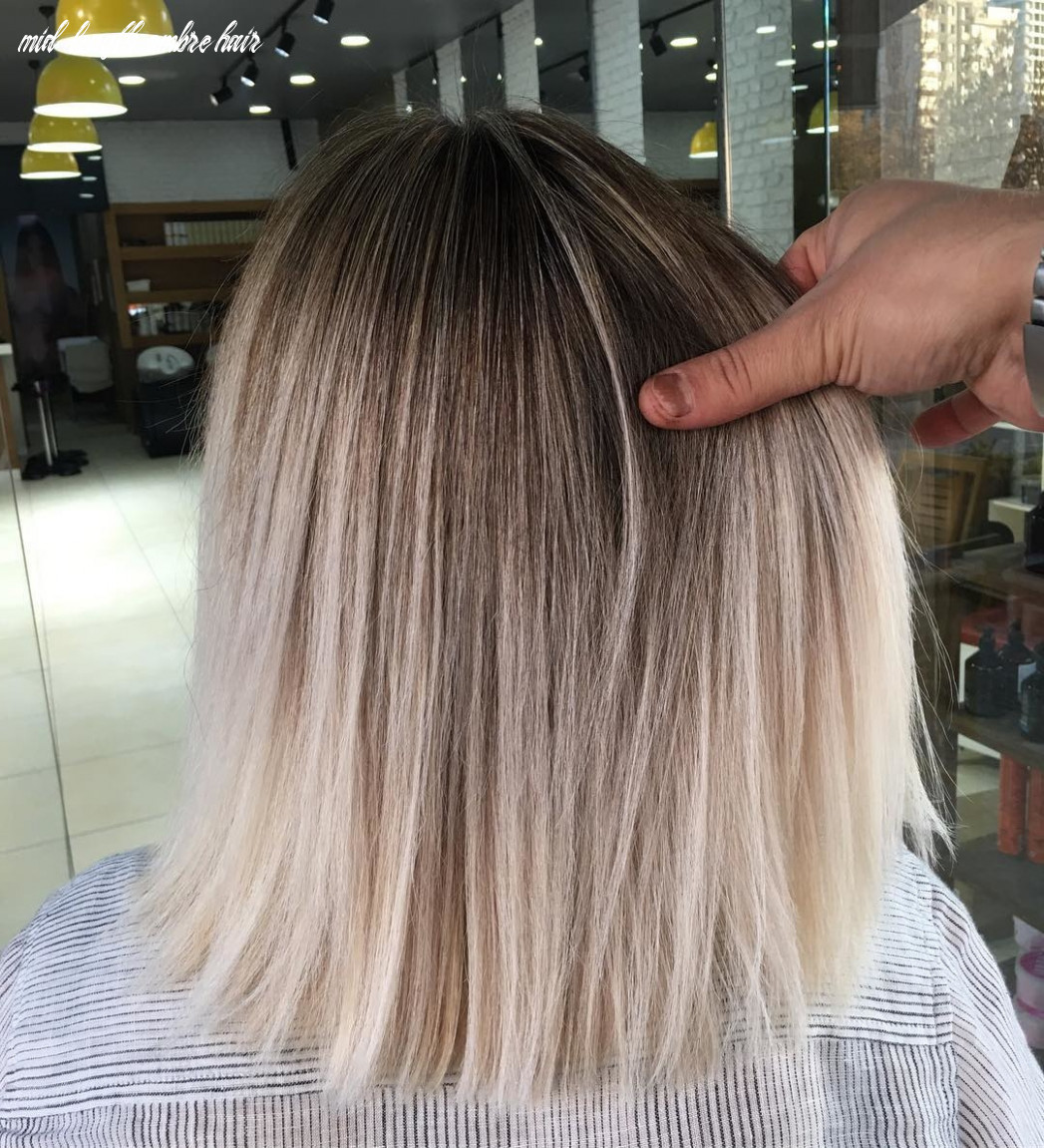 12 ombre hair colors for medium length brunettes with hairstyle mid length ombre hair