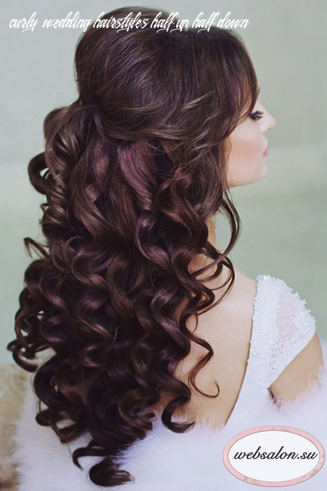 12 Perfect Half Up Half Down Wedding Hairstyles | Glamorous ...