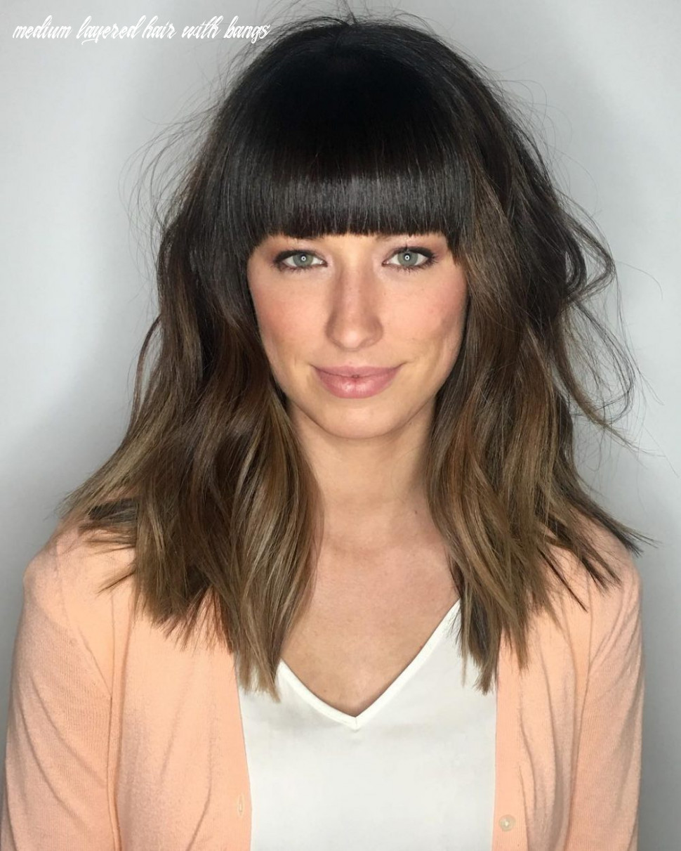 12 popular medium length hairstyles with bangs in 12 medium layered hair with bangs