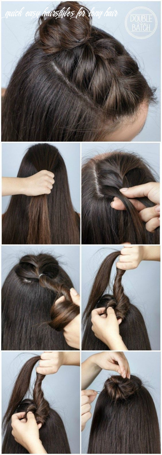 12 quick and easy back to school hairstyle tutorials quick easy hairstyles for long hair