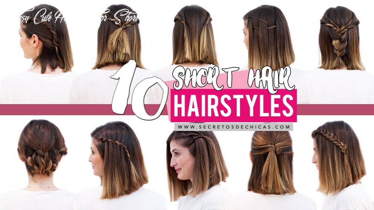 12 quick and easy hairstyles for short hair | patry jordan easy cute hairstyle for short hair