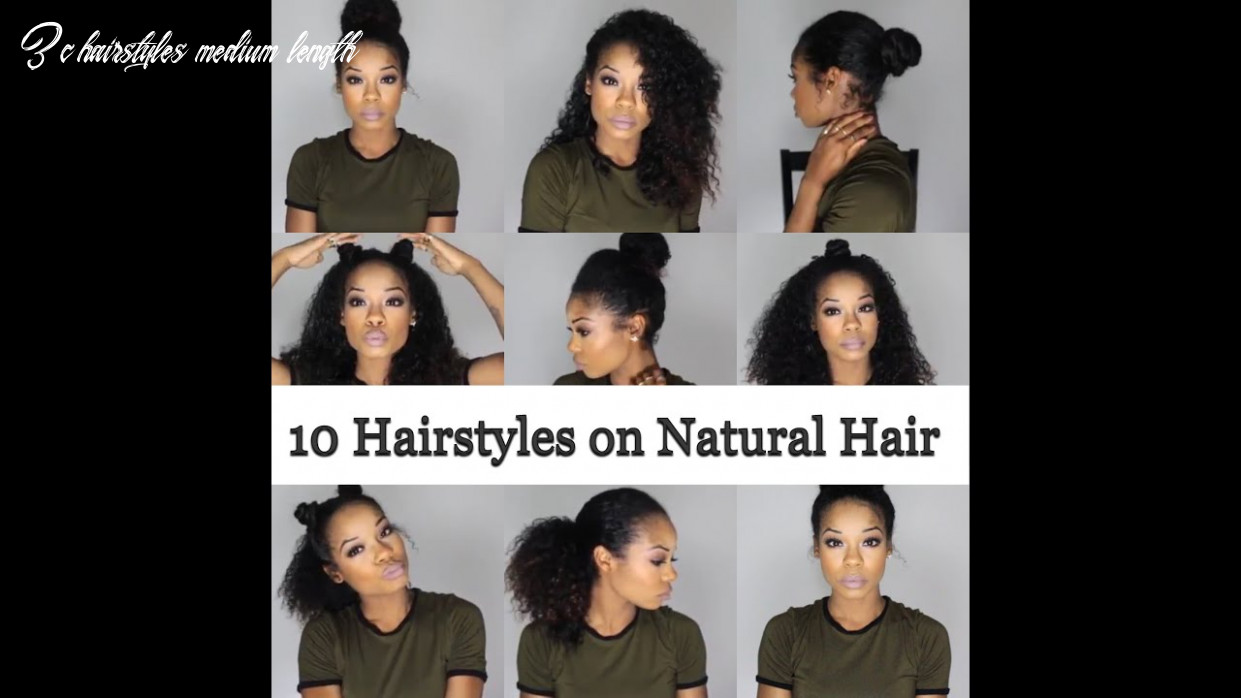 12 quick and easy hairstyles on natural hair 12b/12c 3c hairstyles medium length